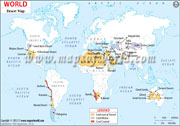 Deserts of the World Map