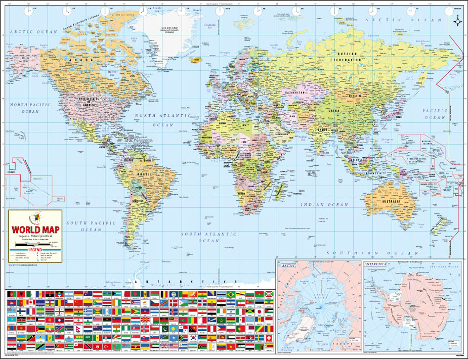 World's Best World Map at Amazon