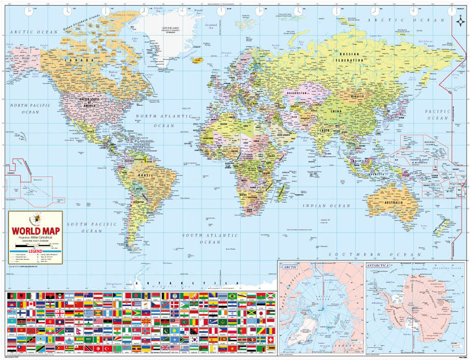 Maps of the World with Countries States Counties Cities – Map in the World