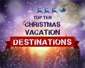 Infographic on Christmas Holiday Destinations