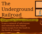Infographic of Underground Rail Road Fast Facts