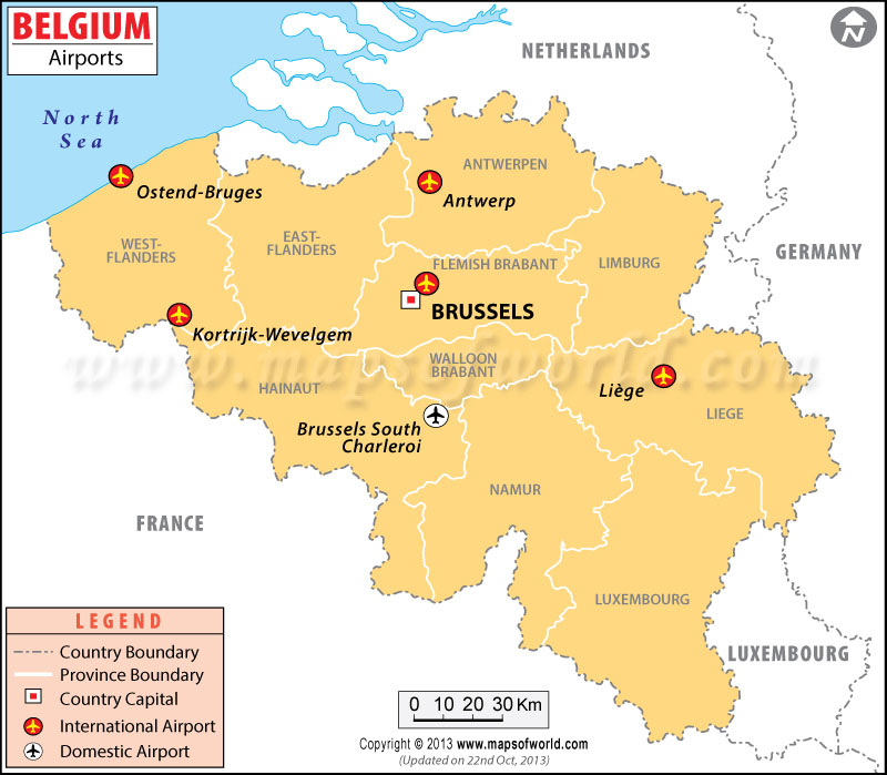 Airports in Belgium Belgium Airports Map – Belguim Map