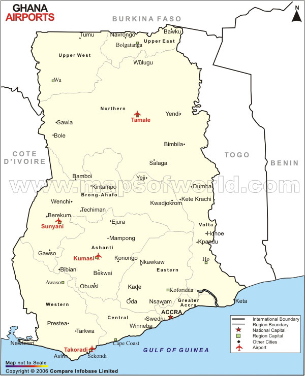 Ghana Airport Map