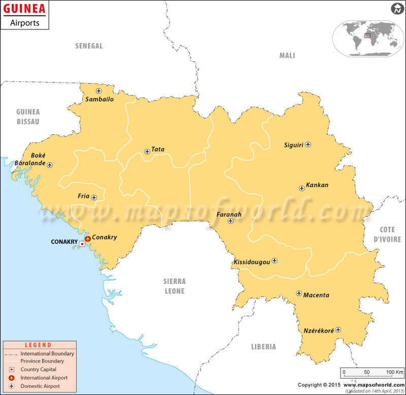 map of guinea africa. Guinea Map