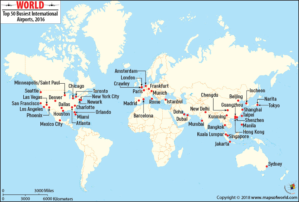 World International airport map