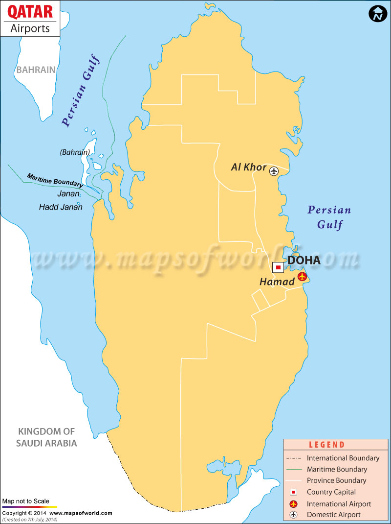 Qatar Airport map. Disclaimer : All efforts have been made to make this