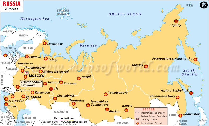 Russia Airports Map