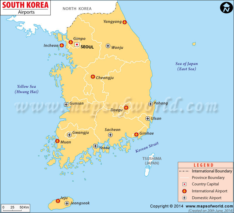 physical map of south korea. Map of Korea || Travel to