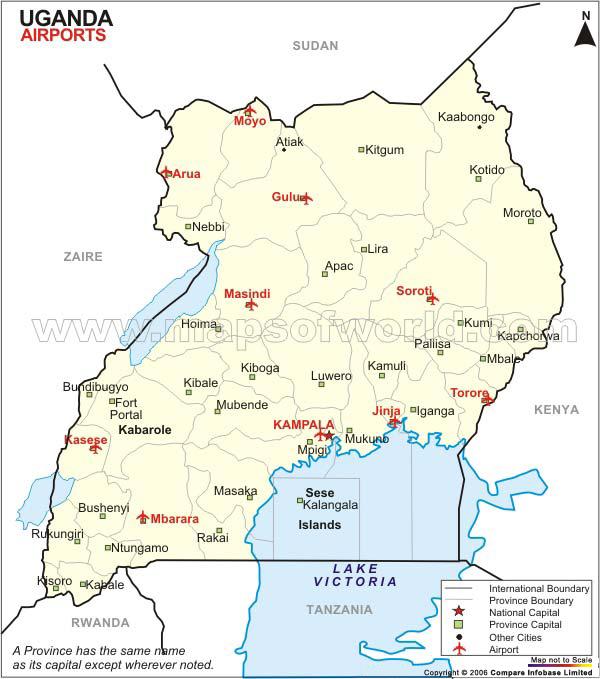 Uganda Airport Map