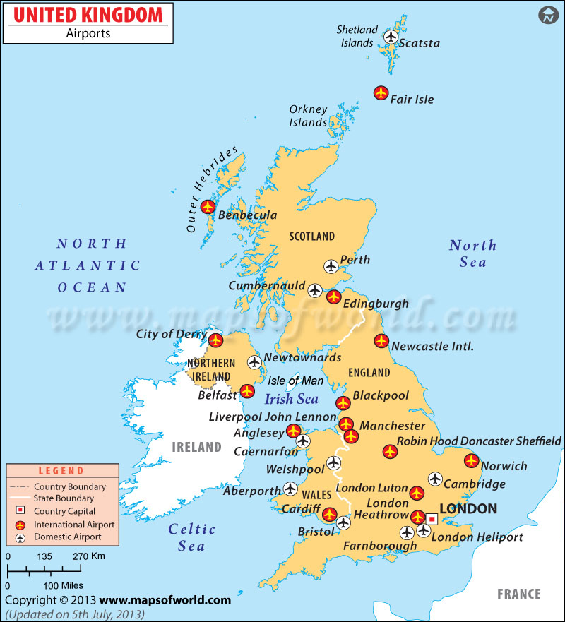 {Airports in UK – Map Uk Airports