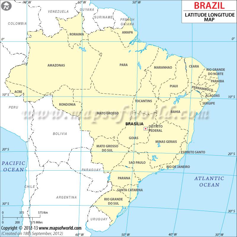 Brazil Latitude and Longitude