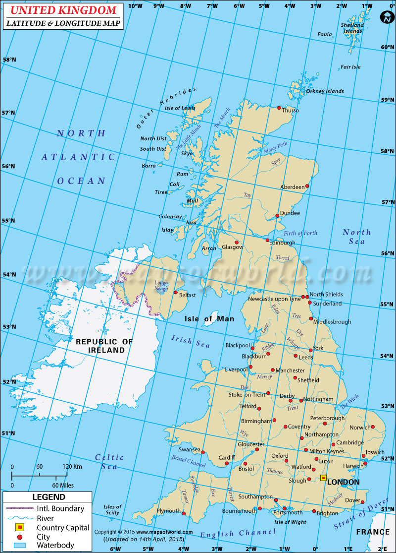 UK Latitude and Longitude