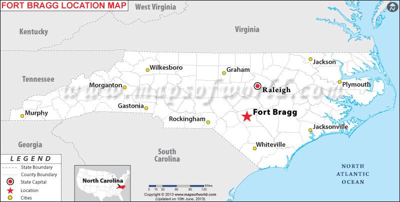 Where is Fort Bragg, North Carolina