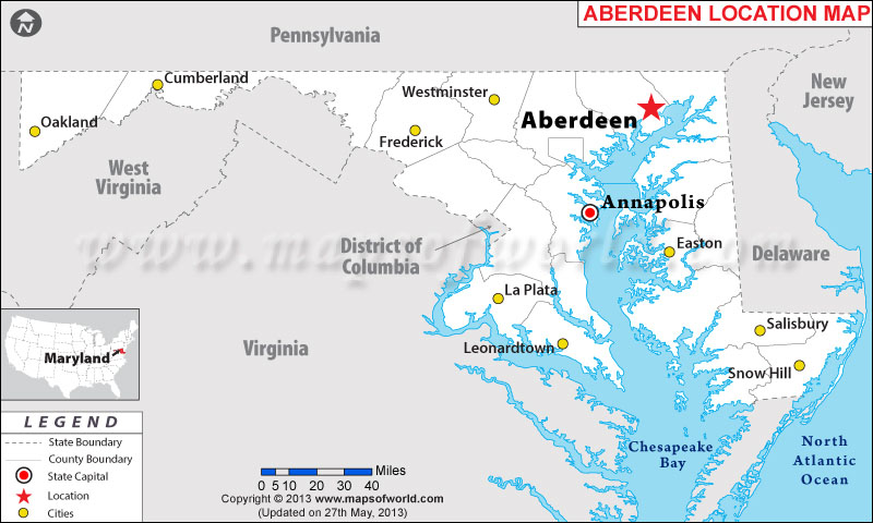 Where is Aberdeen located in Maryland