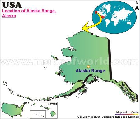 Where Is Alaska Range  Alaska