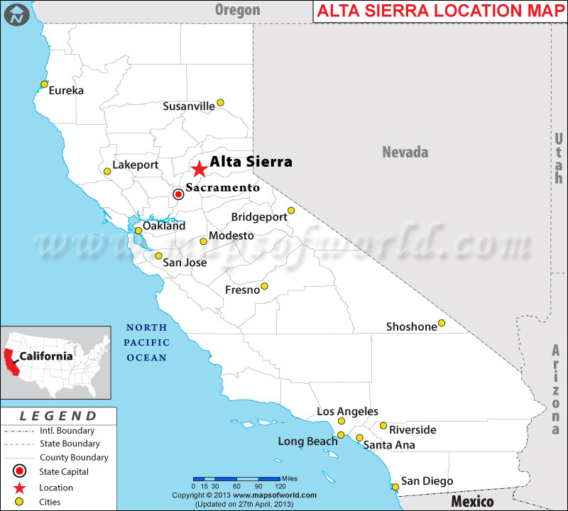Where Is Alta Sierra California