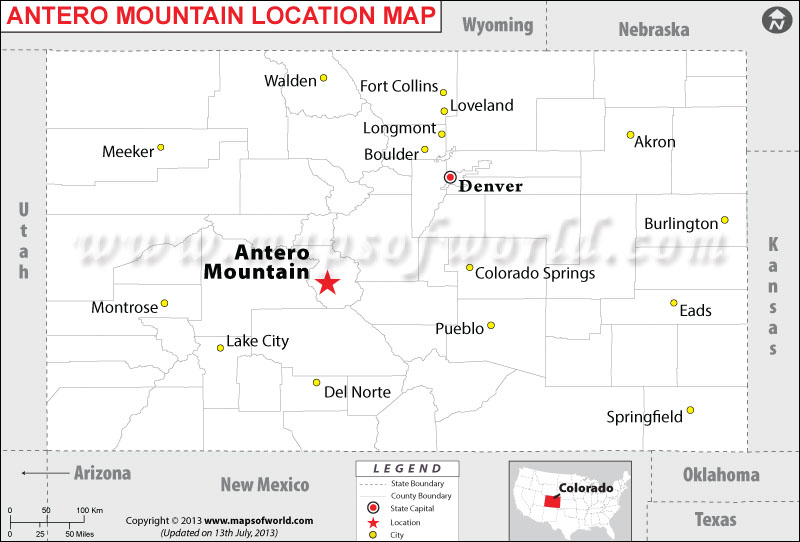 Where is Antero Mountain located in Colorado