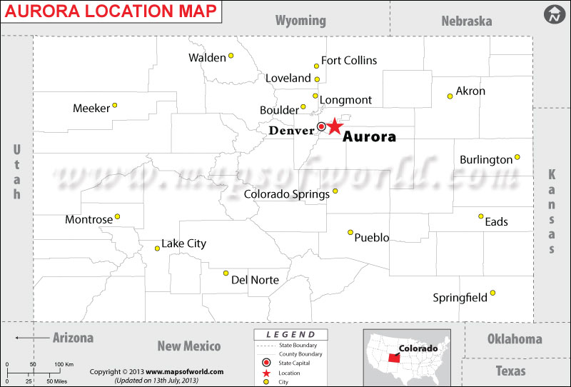 Where is Aurora located in Colorado
