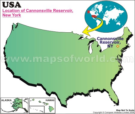 Location Map of Cannonsville Reservoir, USA