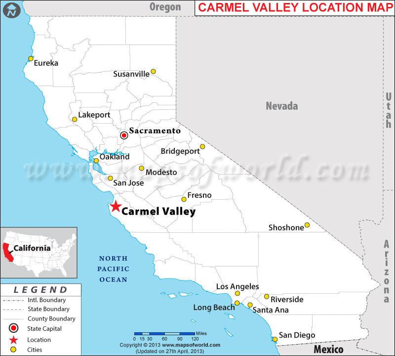 Map Of Hotels In Carmel Ca