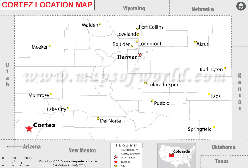 Where is Cortez located in Colorado
