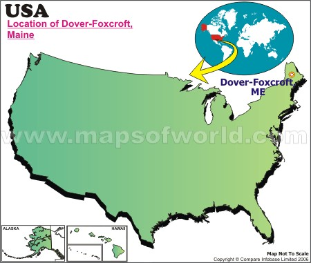 Location Map of Dover-Foxcroft, USA