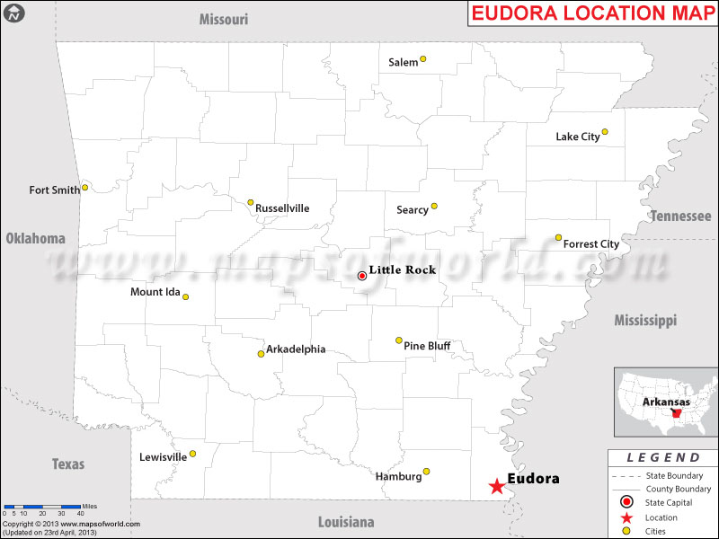 Where is Eudora, Arkansas