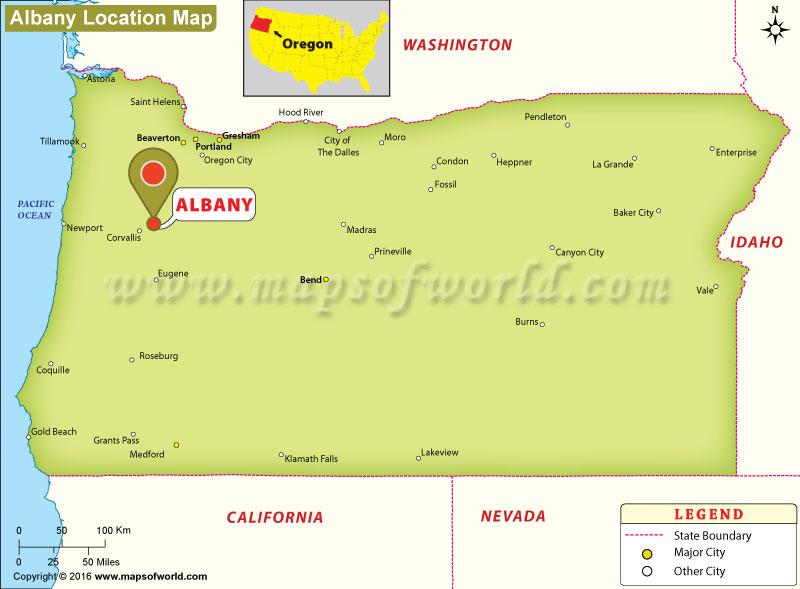 Where Is Albany Oregon