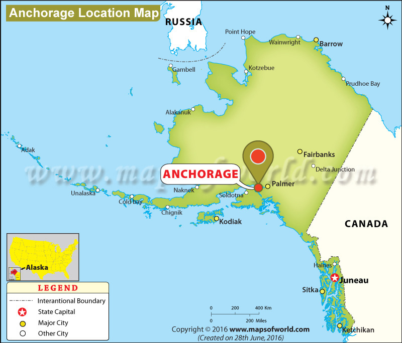 Where Is Anchorage Alaska Location Map Of Anchorage USA