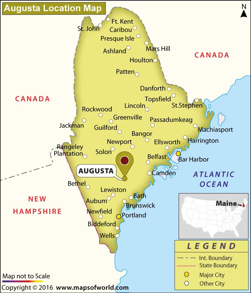 Where Is Augusta  Maine