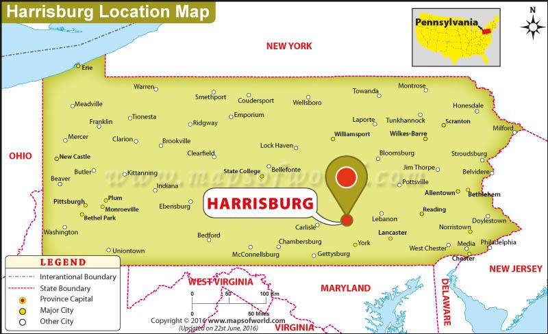 Where Is Harrisburg Pennsylvania  Where Is Harrisburg