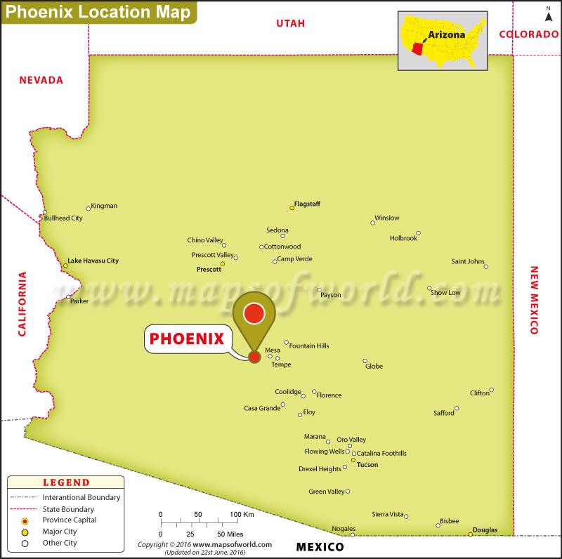 Us Map Phoenix afputracom