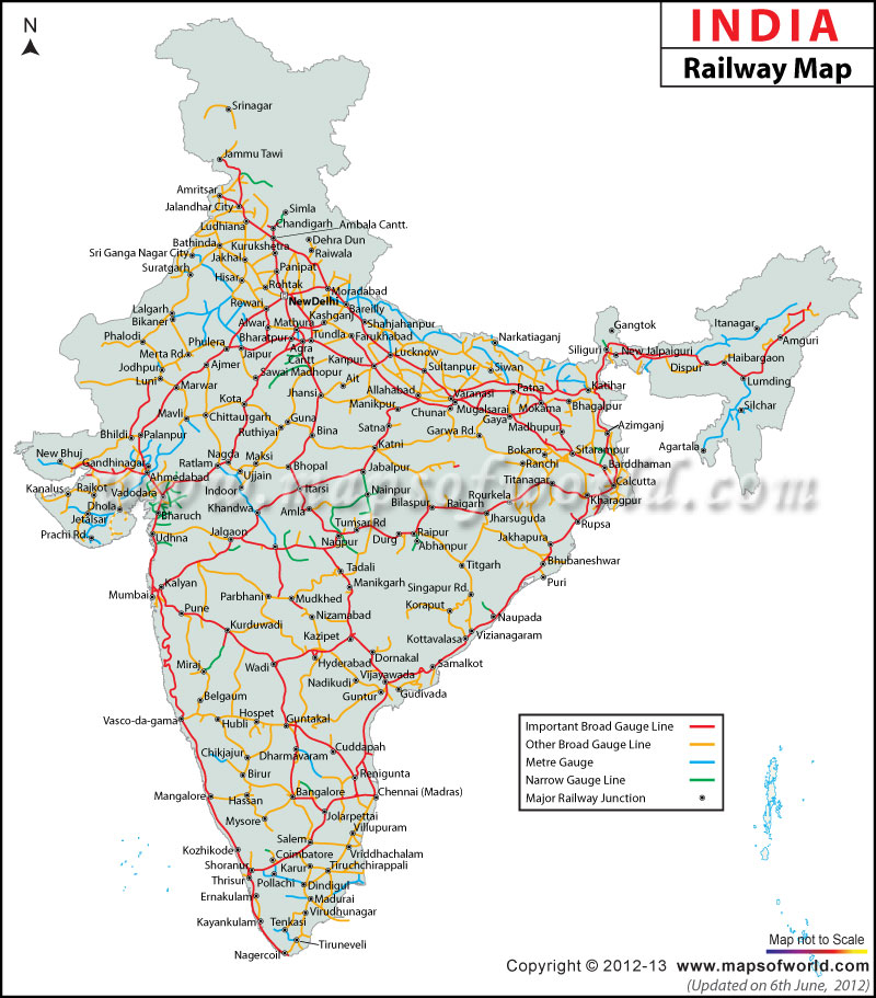 India Railway Map