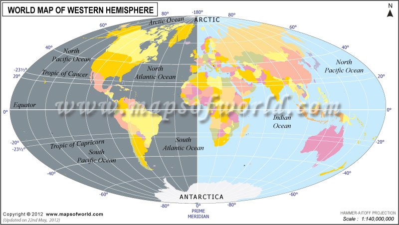 World Hemisphere Maps - Map of Eastern, Western, Northern and ...