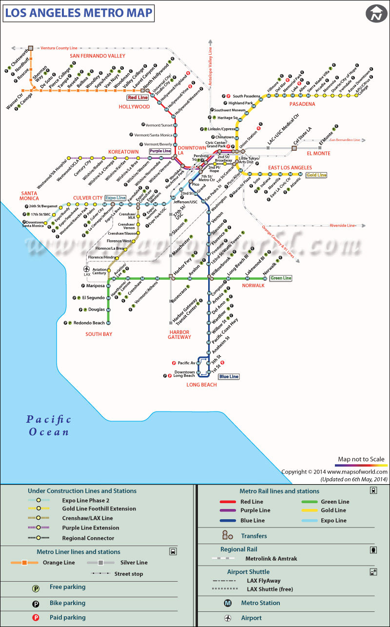 Los Angeles Metro Map