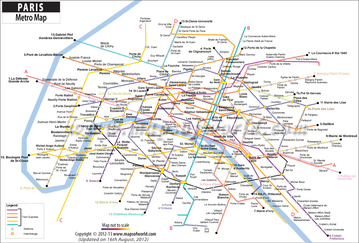 Paris Tube Map ~ World Countries Map of World Map , Tube And Metro ...