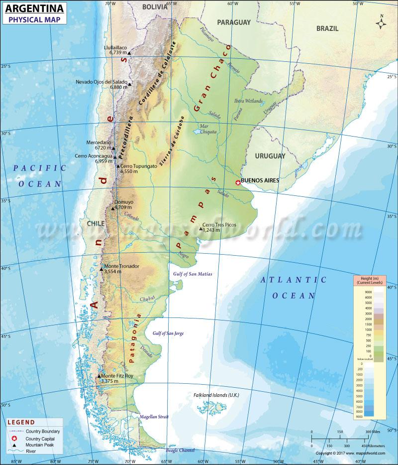 map of argentina iguazu falls detailed