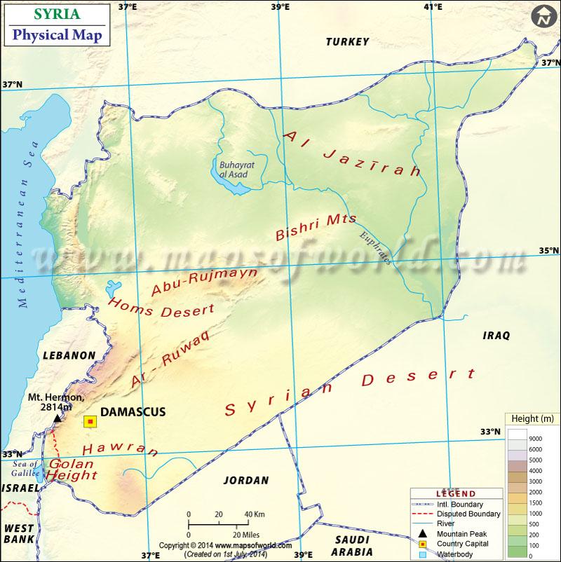 Africa Physical Maps Desert