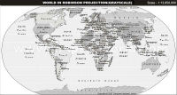 World Map in Robinson Projection (Grayscale)