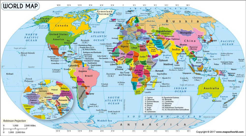 maps of the world  World Map