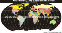 World Map in Robinson Projection without Text