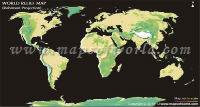 World Physical Map in Robinson Projection