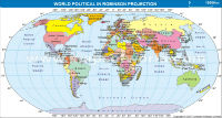 World Map in Robinson Projection