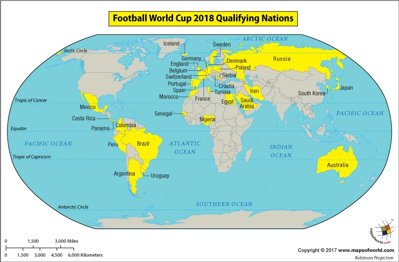 Teams Qualified For World Cup 2018 Football World Cup