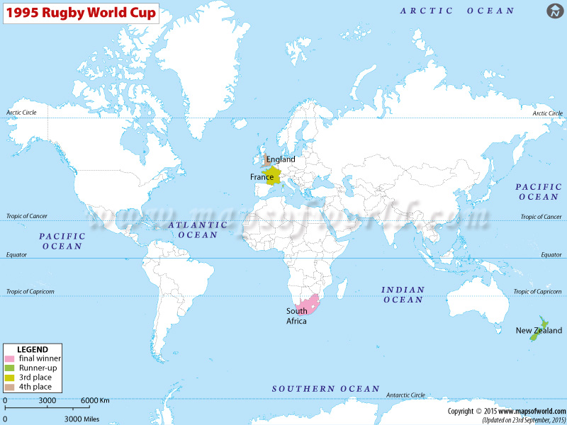 1995 Rugby World Cup Results Teams Records Venues In