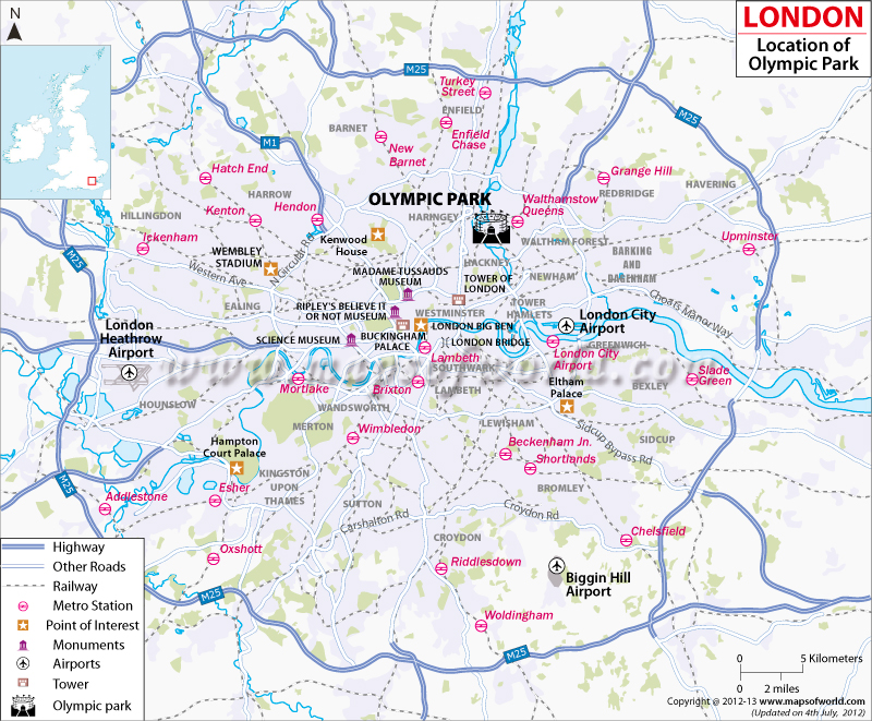 London 2012 olympic venues for Location parking