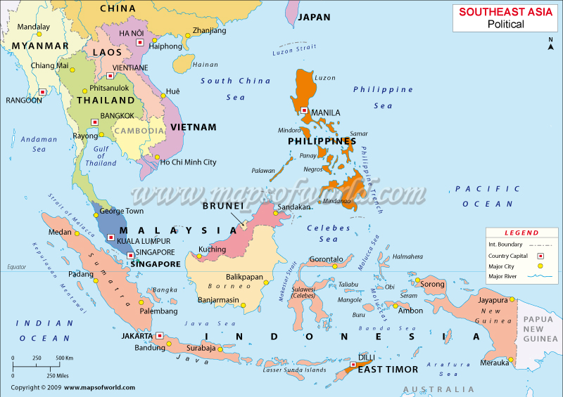 Malaysia Philippines Singapore Map