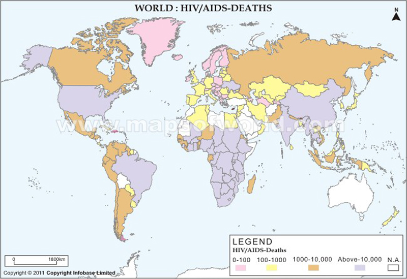 World HIV/AIDS Deaths Map