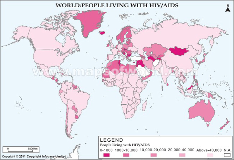 People Living with HIV/AIDS in the World
