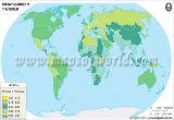 World Urban Population Map